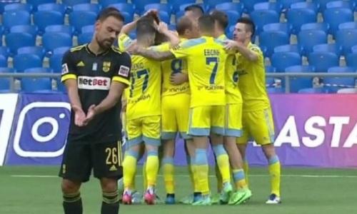Видеообзор матча, или Как «Астана» всухую победила «Арис» в Лиге Конференций