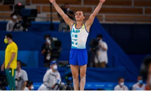 Появилось видео успешной квалификации казахстанского гимнаста на Олимпиаде-2020. Он выступит в трех финалах