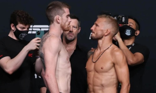 Прямая трансляция турнира UFC on ESPN 27 с главным боем Сэндхаген — Диллашоу