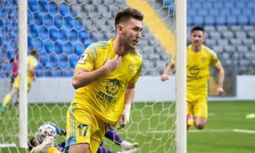 «Астана» дома минимально победила «Акжайык» в матче Кубка Казахстана