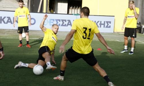 «Арис» провел тренировку перед ответным матчем с «Астаной». Два игрока работали по индивидуальной программе