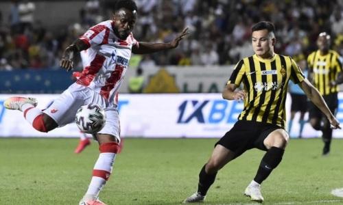 «Кайрат» громят в Сербии по итогам первого тайма ответного матча с «Црвеной Звездой»