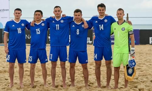 Сборная Казахстана по пляжному футболу потерпела первое поражение в Евролиге-2021