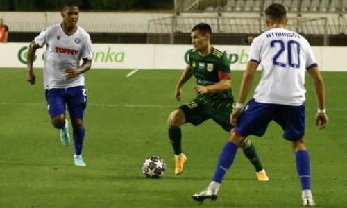 Закончился первый тайм матча «Тобол» — «Хайдук» в Лиге Конференций