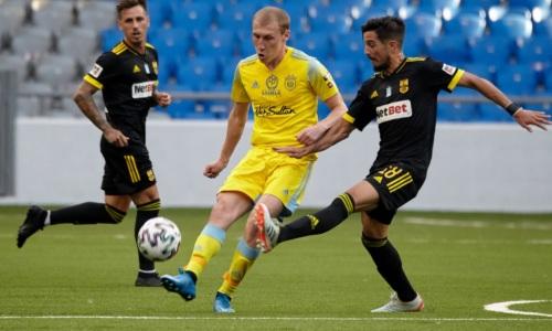 «Астана» тотально проиграла «Арису» по статистике, но вышла в следующий раунд Лиги Конференций