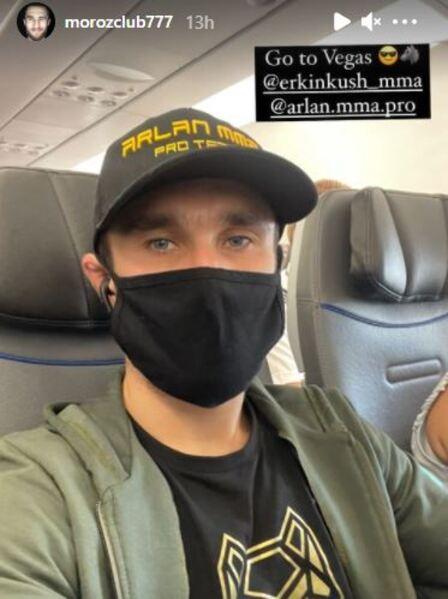 Сергей Морозов завершил тренировочный лагерь и отправился в Лас-Вегас на свой второй бой в UFC. Фото