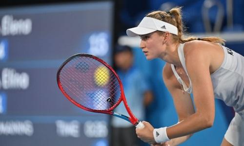 Рыбакина не изменила положения в рейтинге WTA по итогам выступления на Олимпиаде-2020
