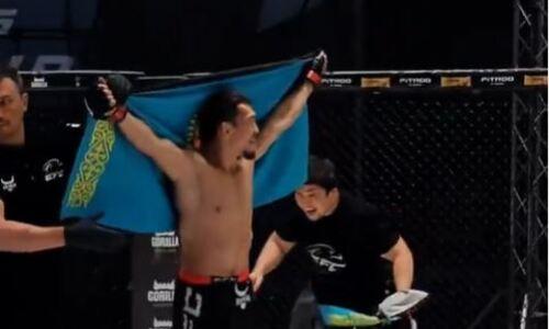 Известный казахстанский боец одержал вторую подряд победу в промоушне Хабиба