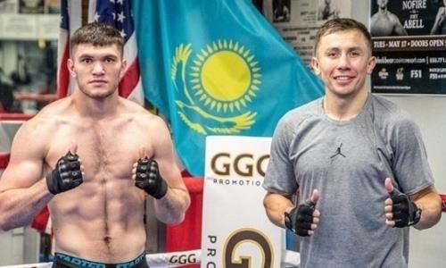 Казахстанский боксер показал новое фото с Геннадием Головкиным