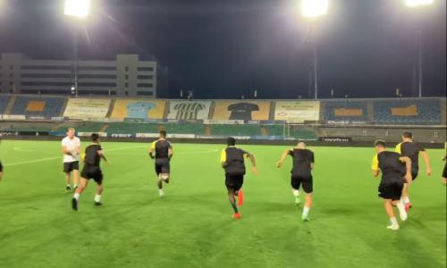 Футболисты «Алашкерта» провели тренировку на стадионе в Алматы перед матчем с «Кайратом». Видео