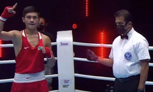 Призер чемпионата Азии по боксу из Казахстана отправил таджика в нокдаун и вышел в финал МЧА-2021