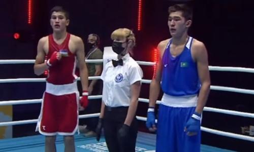 Проиграли все Узбекистану. Казахстанские боксеры не впечатляют в полуфинале МЧА-2021. Видео