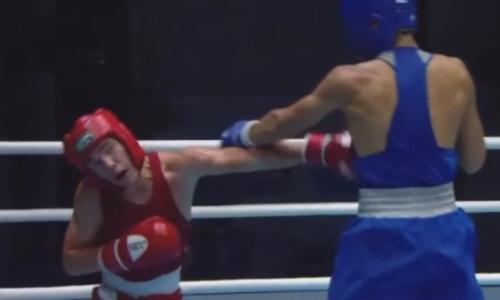 Видео боя, или Как казахстанец побывал в нокдауне и проиграл узбеку выход в финал МЧА-2021 по боксу