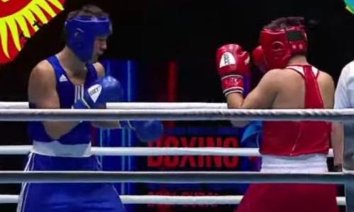 Казахстанский боксер после нокаута за 90 секунд дважды отправил соперника в нокдаун на МЧА-2021