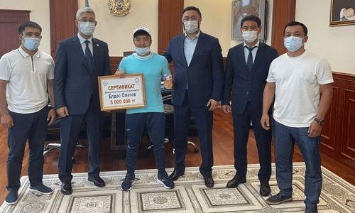 Критика казахстанцев на награждение призера Олимпиады-2020 нашла отклик в акимате