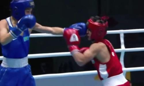 Видео волевой победы казахстанского боксера над узбеком за выход в финал МЧА-2021