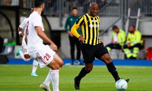 «Кайрат» побеждает «Фолу» после первого тайма домашнего матча Лиги Конференций