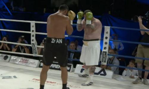 В Сети появилось видео титульного боя казахстанского супертяжа с жестким нокаутом в формате HD