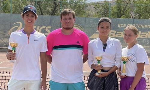 Турнир в Бишкеке завершился триумфом казахстанских теннисистов