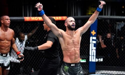 «Я давно ждал». Грузинский боец выбрал соперника после победы в главном бою турнира UFC