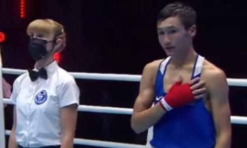 Чемпион Казахстана по боксу завоевал третью золотую медаль страны на МЧА-2021