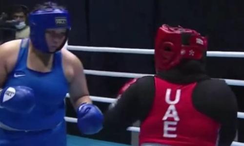 Видео единственного нокаута Казахстана в финале чемпионата Азии. Хватило 52 секунд