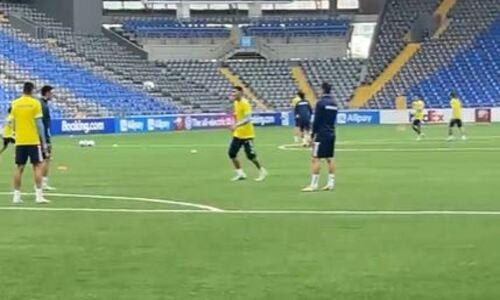 Сборная Казахстана провела тренировку перед матчем с Украиной. Видео