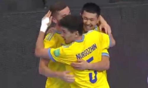 Сборная Казахстана забила первый гол на чемпионате мира в Литве. Видео