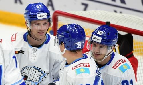 «Барыс» получил дополнительную поддержку в первом гостевом матче сезона КХЛ. Фото