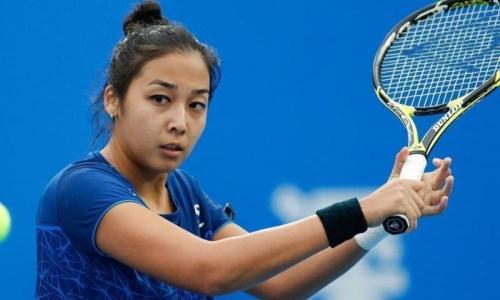 Казахстанская теннисистка одолела победительницу трех турниров WTA