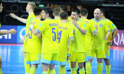 Закончился первый тайм матча Литва — Казахстан на ЧМ-2021 по футзалу