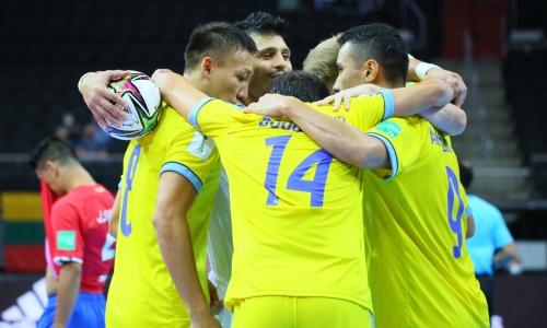 Видеообзор матча, или Как Казахстан не увидел соперника в Литве на ЧМ-2021 по футзалу