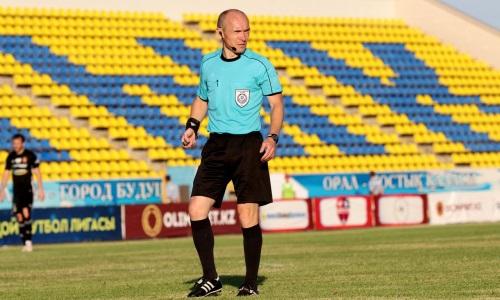 Заменён главный арбитр матча Премьер-Лиги «Тараз» — «Тобол»