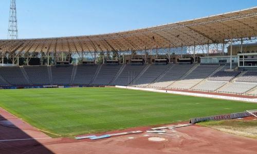 В Азербайджане приводят в порядок стадион к матчу Лиги Конференций «Карабах» — «Кайрат». Фото