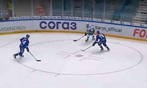 Видео «привоза», Или как Даррен Диц чуть не лишил «Барыс» домашней победы в матче КХЛ