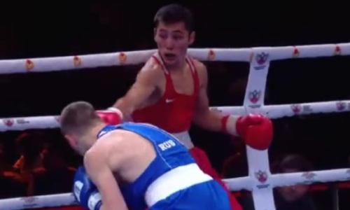 Видео победного боя казахстанского боксера над чемпионом России за «золото» ЧМ-2021 среди военнослужащих
