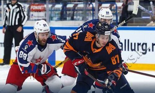Хоккеисты сборной Казахстана помогли «Металлургу» разгромить ЦСКА и остаться лидером Востока КХЛ