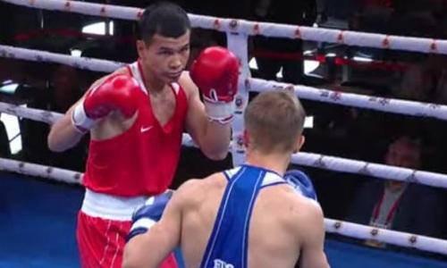 Как казахстанский боксер побил чемпиона Европы из России в финале ЧМ-2021 среди военнослужащих. Видео боя