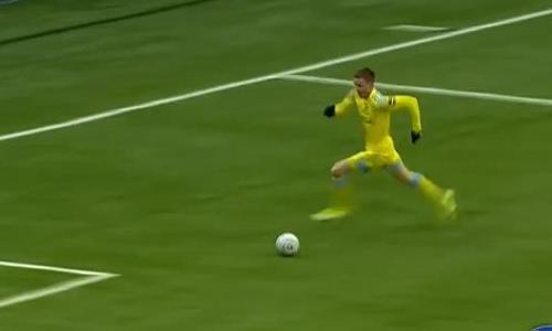 Видео второго гола Томасова матча Премьер-Лиги «Астана» — «Тараз»