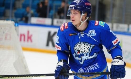 Форвард «Барыса» забил «Автомобилисту» и набрал очки в девятом матче подряд в КХЛ. Видео
