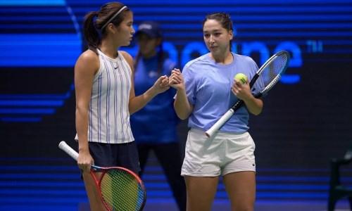 Казахстанка обыграла своих соотечественниц на Astana Open WTA 250 в парном разряде. Видео