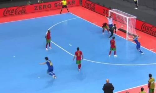 Сборная Казахстана на последней минуте сравняла счет в матче с Португалией. Видео