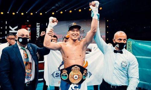 Казахстанский боксер вошел в рейтинг WBA после завоевания титула
