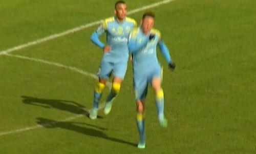 Видео второго гола Томасова матча Премьер-Лиги «Жетысу» — «Астана»