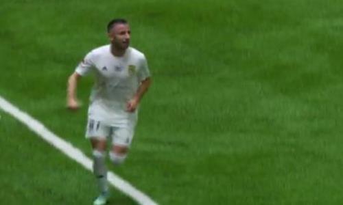 Видео гола Тошича матча Премьер-Лиги «Тобол» — «Ордабасы»