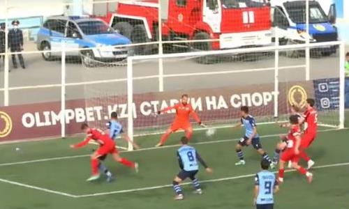 Видео гола Касыма матча Премьер-Лиги «Каспий» — «Кызыл-Жар СК»