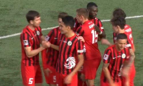 Волевой победой завершился матч КПЛ между «Каспием» и «Кызыл-Жаром СК»