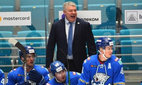 Юрий Михайлис нашел объяснение третьего подряд поражения «Барыса» в КХЛ