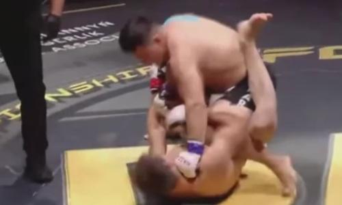 Видео зверского нокаута казахстанского файтера за 17 секунд