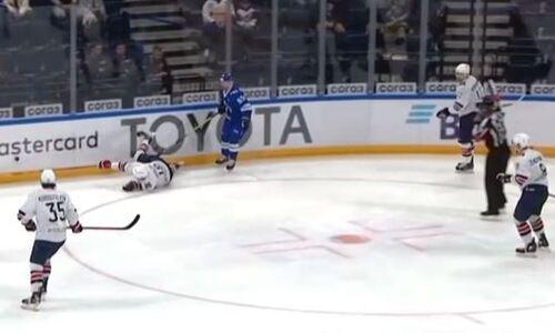 В России разобрали симуляцию форварда сборной Казахстана в матче КХЛ и вынесли вердикт